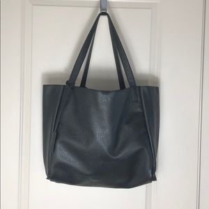 Urban outfitters black faux leather tote